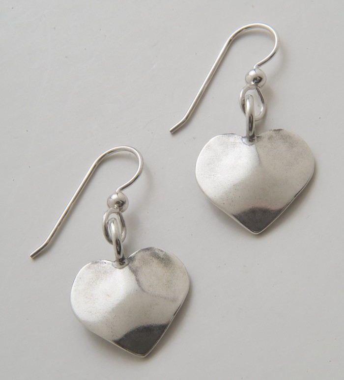 Heart Dime Earrings