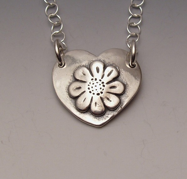 Flower-in-Heart Necklace