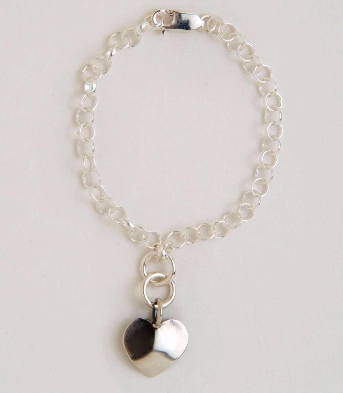 Heart Dime Charm Bracelet