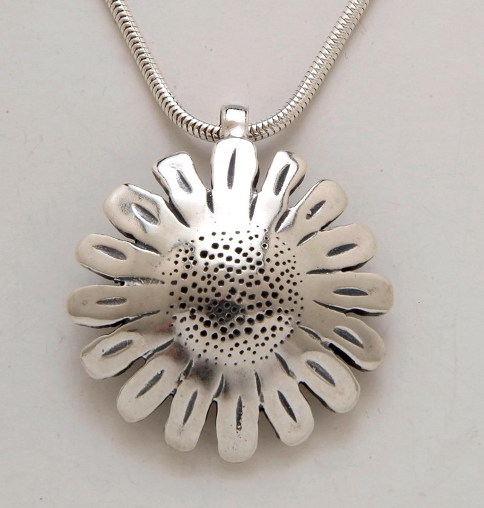 Sunflower Dollar Pendant
