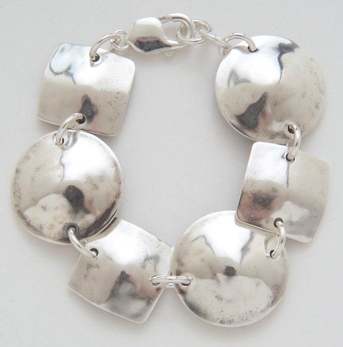 Square & Circle Half Dollar Bracelet