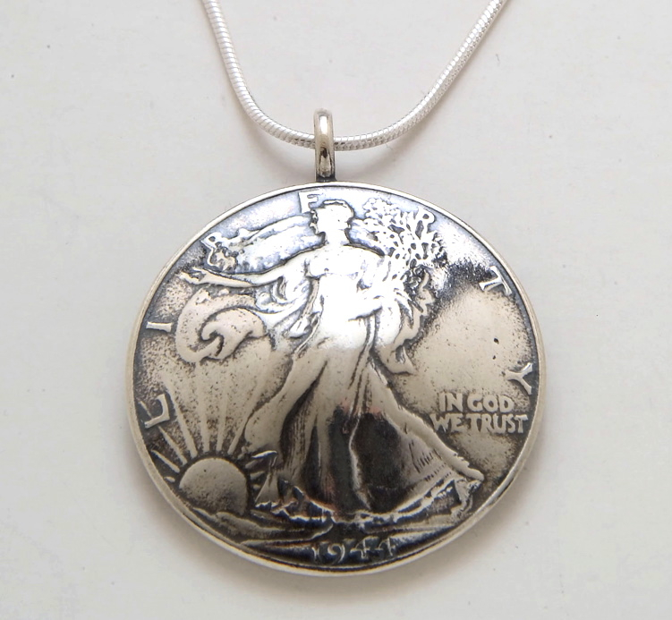 Walking Liberty Half Dollar Pendant