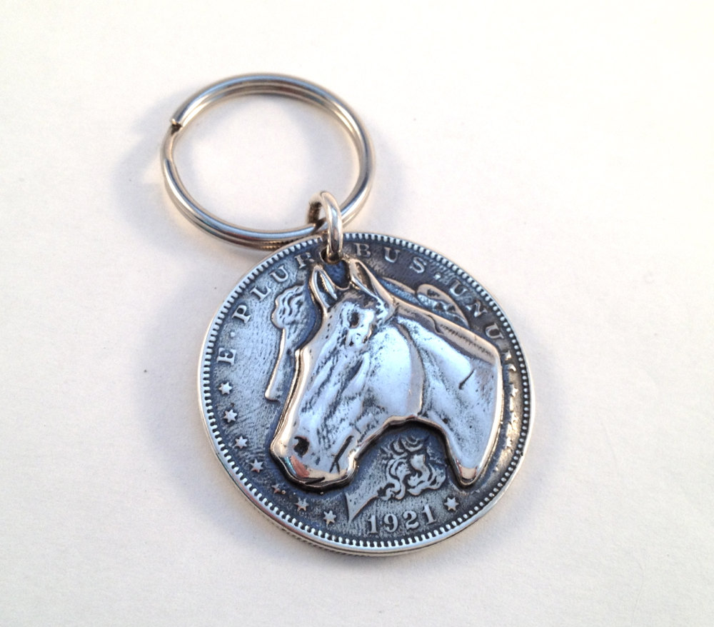 Horse Dollar Key Ring